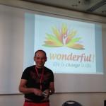 Tom Oberbichler beim Vortrag